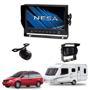 caravan kit with 2 cameras and 7 inch monitor