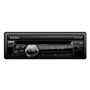 single DIN dvd player with 7 inch motorised screen closed