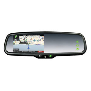 rear view mirro with 4.3 inch touchscreen monitor and GPS navigation
