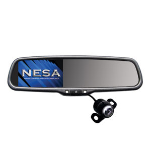 Auto Dimming rear view mirror with reverse camera input and 4.3 inch screen and CCD camera