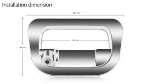 The NESA CCD-TTH17 Toyota Hilux reversing ute camera installaton
