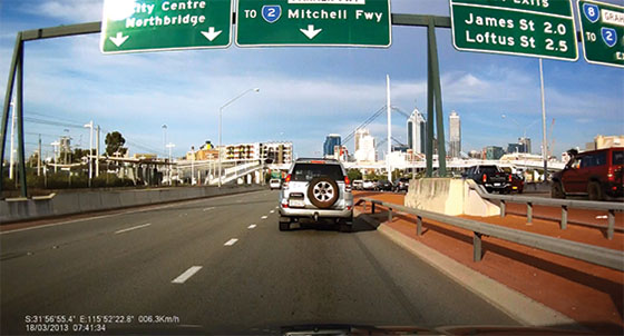 dash cam screenshot