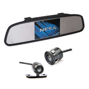 clip on mirror dual mount camera kit