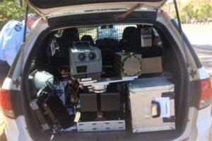 Beltronics radar detector with QLD police Poliscan camera