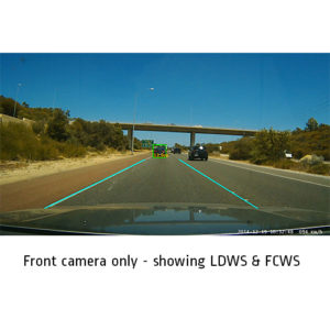 front view screen shot dual camera dash cam