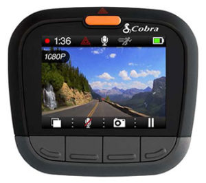 Cobra CDR855 dual dash cam video screen