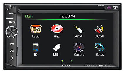 DIN stereo with reversing playback video screen