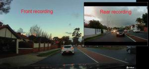 Dual camera dash cam video example