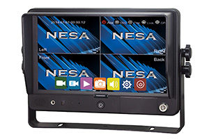 NSM-90GPSDVR vehicle 4 (quad) video screen with drive recorder DVR