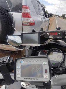 Police rear radar road speed detection