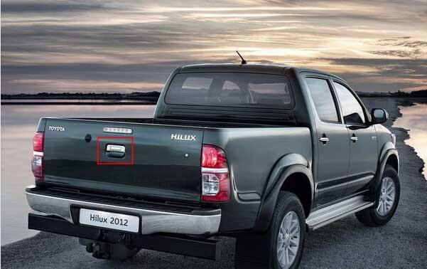 Toyota Hilux ute reversing camera system